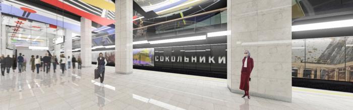На станции БКЛ метро «Сокольники» готовы вестибюли и платформа – Бочкарёв
