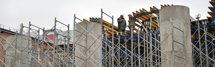 В Коммунарке началось строительство путепроводов над Калужским шоссе
