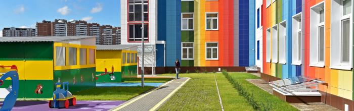 Строительство двух детских садов на 200 мест в Новой Москве завершат осенью