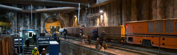 На станции метро «Калужская» идут работы по созданию пересадки на БКЛ метро