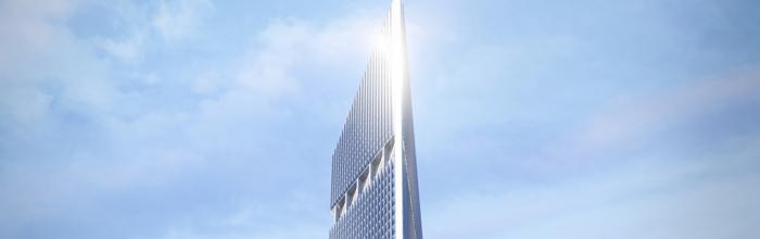 Завершен монтаж двух башенных кранов для строительства башни Национального космического центра