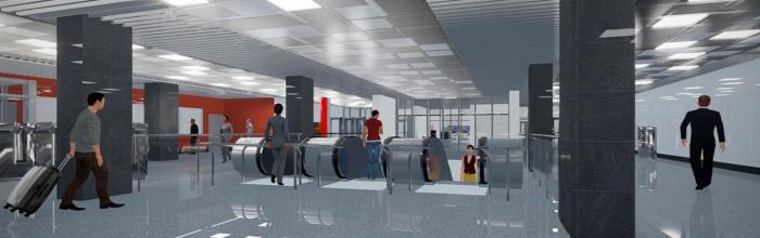 Андрей Бочкарев: на станции БКЛ «Новаторская» начался монтаж подвесного потолка