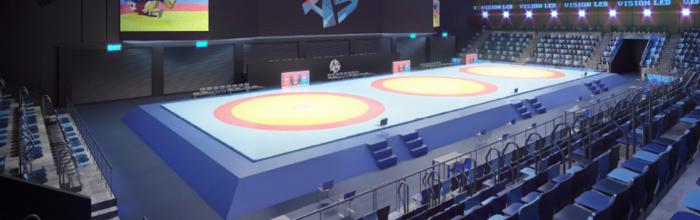 Андрей Бочкарёв: Завершается возведение монолитных конструкций Центров самбо и бокса в Лужниках