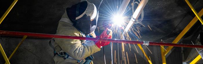 Андрей Бочкарёв: монтаж металлических перекрытий в зоне галереи НКЦ выполнен на 87%