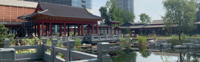 Андрей Бочкарёв: завершается благоустройство традиционного китайского парка рядом с деловым центром «Парк Хуамин»