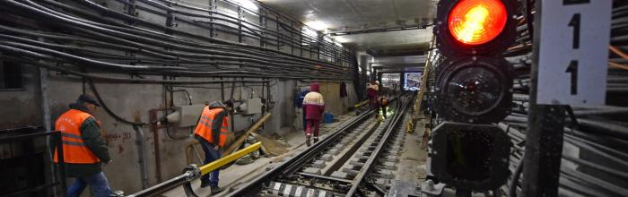 Андрей Бочкарёв: Продолжаются работы по сопряжению станций БКЛ с радиальными линиями метро
