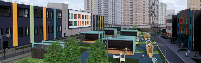 Школу в районе Солнцево украсят разноцветными панелями