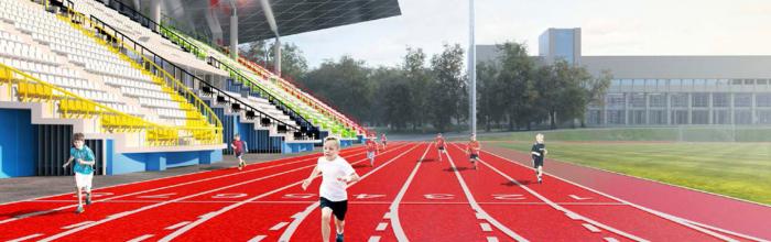 Реконструкция стадиона «Москвич» выполнена почти на 80%